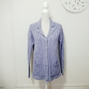 Arancraft size S chunky knit wool cardigan